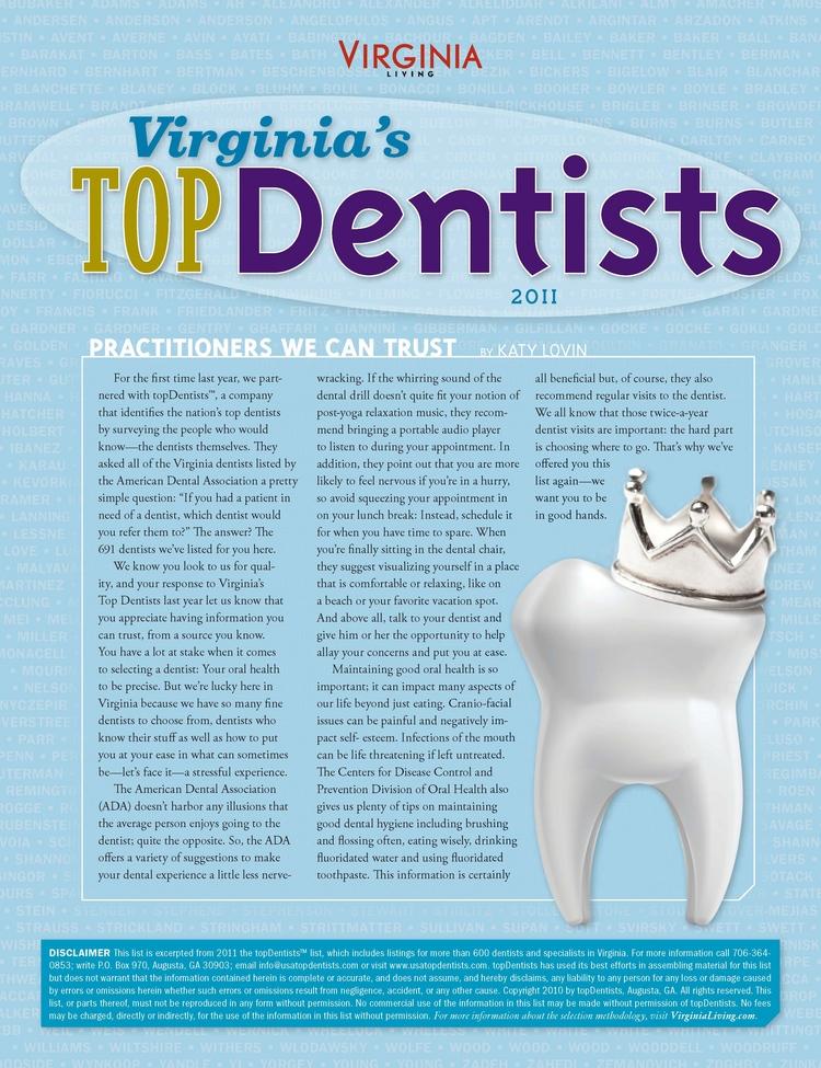 Top Dentists Award